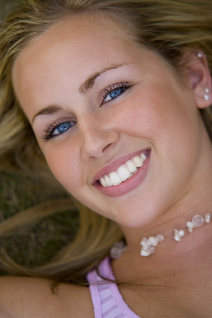 Close up of a young Abbotsford woman's smile