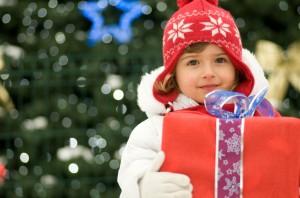 Abbotsford child holding present